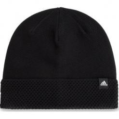 Czapka adidas - W Beanie CY6008 Black/Black/White. Czarne czapki męskie Adidas, z materiału. Za 99,95 zł.