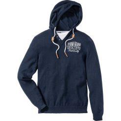 Swetry męskie: Sweter z kapturem Regular Fit bonprix ciemnoniebieski