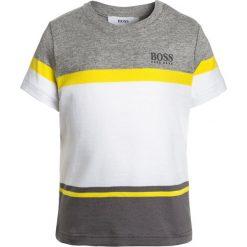 BOSS Kidswear BABY LAYETTE KURZARM  Tshirt z nadrukiem graumeliert. Niebieskie t-shirty męskie z nadrukiem marki BOSS Kidswear, z bawełny. Za 139,00 zł.