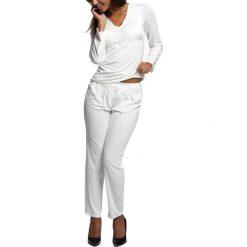 Piżamy damskie: Piżama w kolorze mlecznym