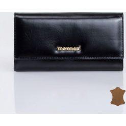 Portfele damskie: Minimalistyczny portfel ze skóry