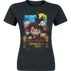 Harry Potter Cute - Poster Art Koszulka damska czarny. Czarne bluzki damskie Harry Potter, xxl, z nadrukiem, z okrągłym kołnierzem. Za 54,90 zł.