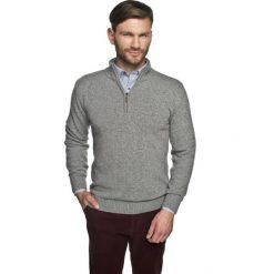 Sweter onley troyer szary. Szare swetry klasyczne męskie marki Recman, m, z kołnierzem typu troyer. Za 249,00 zł.