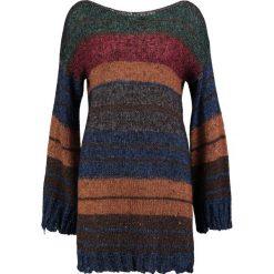 Swetry klasyczne damskie: Sisley Sweter green/orange