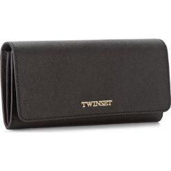 Duży Portfel Damski TWINSET - Portafoglio AA7PD3 Nero 00006. Czarne portfele damskie Twinset, ze skóry. W wyprzedaży za 359,00 zł.
