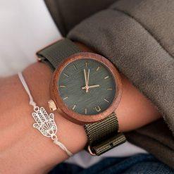 Drewniany zegarek damski new hoop 38 mm n061. Brązowe zegarki damskie Pakamera. Za 374,00 zł.