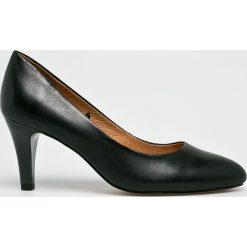 Caprice - Czółenka. Szare buty ślubne damskie Caprice, z materiału, na obcasie. W wyprzedaży za 197,91 zł.