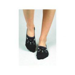 Skarpetki damskie: Skarpetki stopki z czarnym kotem