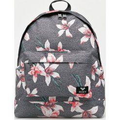 Roxy - Plecak. Szare plecaki damskie marki Roxy, w paski, z materiału. Za 169,90 zł.