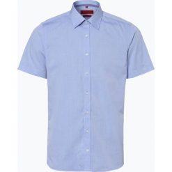 Finshley & Harding - Koszula męska łatwa w prasowaniu, niebieski. Czarne koszule męskie non-iron marki Finshley & Harding, w kratkę. Za 89,95 zł.