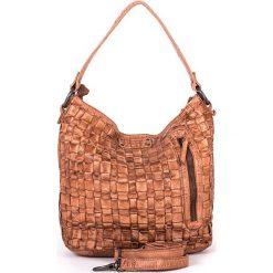 Torebki klasyczne damskie: Skórzana torebka w kolorze szarobrązowym – 26 x 27 x 17 cm