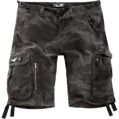 Black Premium by EMP Army Vintage Shorts Krótkie spodenki Vintage kamuflaż (Dark Camo). Zielone spodenki i szorty męskie Black Premium by EMP, na lato, z aplikacjami, vintage. Za 164,90 zł.