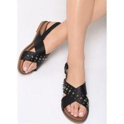 Czarne Sandały Spirits. Czarne sandały damskie vices, na płaskiej podeszwie. Za 79,99 zł.