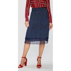 Answear - Spódnica. Szare spódniczki ANSWEAR, l, z materiału, midi, proste. W wyprzedaży za 59,90 zł.