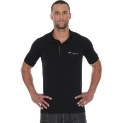 Koszulki polo: Brubeck Koszulka męska polo Prestige z krótkim rękawem czarna r. L (SS10920)