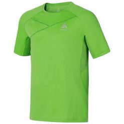 Odlo Koszulka męska T-shirt s/s RAMA zielona r. S (347532). Białe koszulki sportowe męskie marki Adidas, l, z jersey, do piłki nożnej. Za 124,17 zł.
