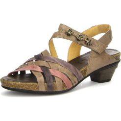 """Rzymianki damskie: Skórzane sandały """"Jomai"""" w kolorze szarobrązowym"""