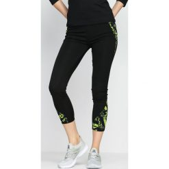 Spodnie damskie: Czarno-Zielone Legginsy Good Oil
