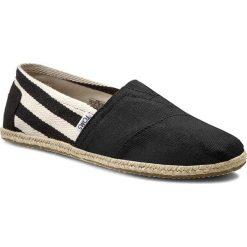 Espadryle TOMS - Classic 10005414 Black Stripe. Czarne espadryle męskie marki Toms, z materiału. W wyprzedaży za 169,00 zł.