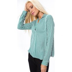 Koszula w paski zielono-białe MP28456. Białe koszule wiązane damskie Fasardi, xl, w paski. Za 44,00 zł.