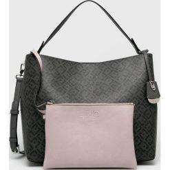 Liu Jo - Torebka. Szare torebki klasyczne damskie Liu Jo, w paski, z materiału, duże. Za 649,90 zł.