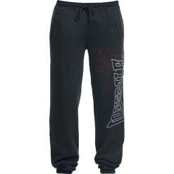 Lonsdale London Dartford Spodnie dresowe czarny. Czarne spodnie dresowe męskie marki Lonsdale London, z nadrukiem, z dresówki. Za 144,90 zł.