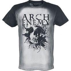 T-shirty męskie: Arch Enemy Logo Skull T-Shirt szary/czarny