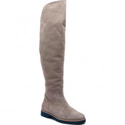 Muszkieterki NESSI - 17271 Szary W3. Szare buty zimowe damskie Nessi, z materiału, przed kolano, na wysokim obcasie, na obcasie. Za 424,00 zł.