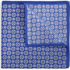 Poszetka Niebieska Wzór Geometryczny. Niebieskie poszetki męskie LANCERTO, w geometryczne wzory, klasyczne. Za 79,90 zł.