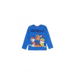 T-shirt długi rękaw chłopięcy z printem Psi Patrol. Niebieskie t-shirty chłopięce z długim rękawem TXM, w jednolite wzory, z bawełny. Za 16,99 zł.