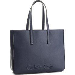 Shopper bag damskie: Torebka CALVIN KLEIN BLACK LABEL – Edge Large Shopper K60K603991 430