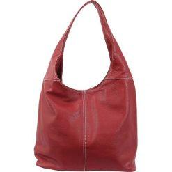 Torebki klasyczne damskie: Skórzana torebka w kolorze czerwonym – 34 x 55 x 16 cm
