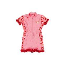 Kombinezony niemowlęce: PLAYSHOES Girls Kombinezon kapielowy Truskawka kolor czerwony