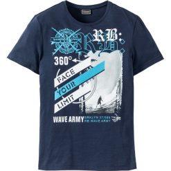 T-shirty męskie z nadrukiem: T-shirt Slim Fit bonprix ciemnoniebieski