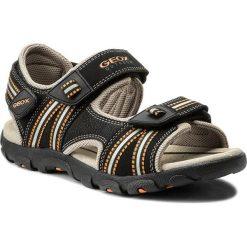 Sandały GEOX - J S.Strada A J4224A 0CE14 C0038 D Black/Orange. Szare sandały chłopięce marki Blukids, z gumy. Za 309,00 zł.