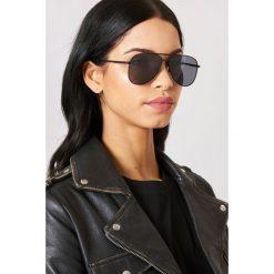 Okulary przeciwsłoneczne damskie aviatory: Le Specs Okulary przeciwsłoneczne Kingdom - Black