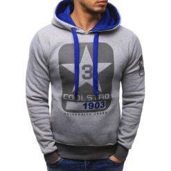 Bluzy męskie: Bluza męska z kapturem szara (bx2293)