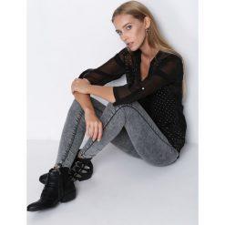 Spodnie damskie: Szare Jegginsy From Start