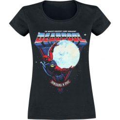 Deadpool Chimichangas In Space Koszulka damska czarny. Czarne bluzki z odkrytymi ramionami Deadpool, xl, z nadrukiem, z okrągłym kołnierzem. Za 74,90 zł.