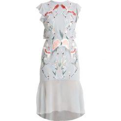 Hope & Ivy Petite BIRD EMBROIDERED MIDI Sukienka koktajlowa white. Szare sukienki koktajlowe Hope & Ivy Petite, z materiału, petite, midi. W wyprzedaży za 487,20 zł.