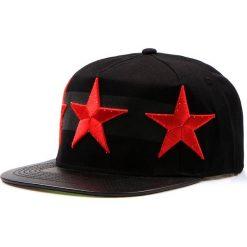 Czapka męska snapback czarna (hx0175). Czarne czapki z daszkiem męskie marki Dstreet, z haftami, ze skóry ekologicznej, eleganckie. Za 69,99 zł.