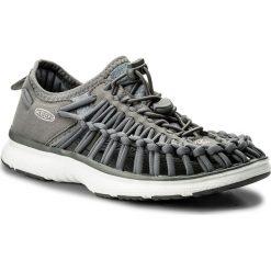 Sandały KEEN - Uneek O2 1018733 Steel Grey/Vapor. Szare sandały damskie marki Keen, z materiału. W wyprzedaży za 259,00 zł.