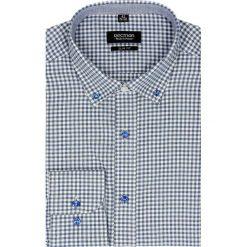 Koszula bexley f2485 długi rękaw slim fit granatowy. Niebieskie koszule męskie jeansowe marki Recman, na lato, m, button down, z długim rękawem. Za 99,99 zł.