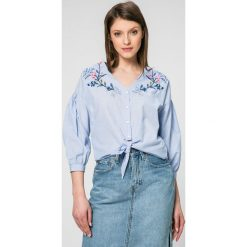 Pepe Jeans - Koszula. Szare koszule jeansowe damskie marki Pepe Jeans, l, z haftami, casualowe, z długim rękawem. W wyprzedaży za 179,90 zł.