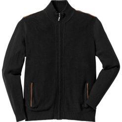 Kardigany męskie: Sweter rozpinany Regular Fit bonprix czarny
