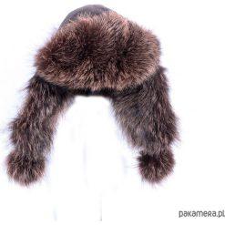 Czapka PILOTKA unisex brązowa. Brązowe czapki damskie Pakamera, na jesień, ze skóry. Za 159,00 zł.