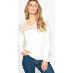 T-shirty damskie: T-shirt z okrągłym dekoltem, jednokolorowy, długi rękaw