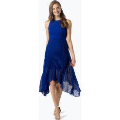 Coast - Damska sukienka wieczorowa, niebieski. Niebieskie sukienki asymetryczne Coast, z szyfonu, wizytowe, z asymetrycznym kołnierzem. Za 899,95 zł.