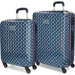 Walizki: Zestaw walizek w kolorze niebieskim ze wzorem – 2 szt.
