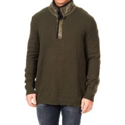 Golfy męskie: Sweter w kolorze khaki